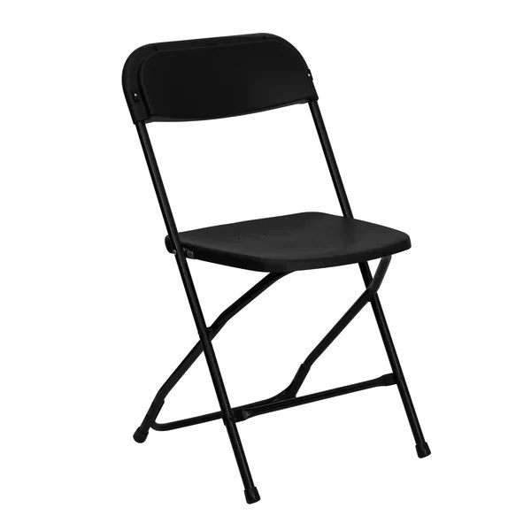 white folding chair chairs for people with back pain you ll love wayfair