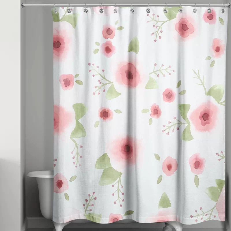 odion floral single shower curtain