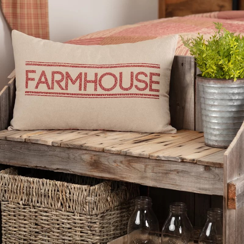 Farmhouse 100% Cotton Pillow