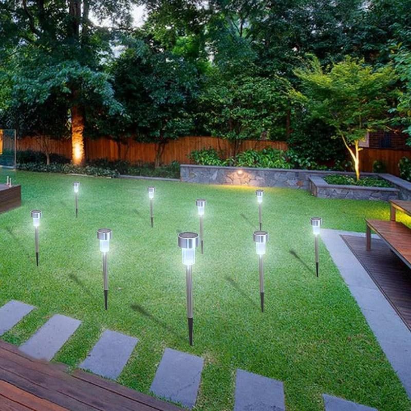 waterproof solar outdoor landscape lawn garden led pathway light