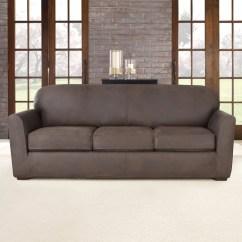 Sure Fit Stretch Pearson 3 Pc Sleeper Sofa Slipcover Full Papasan Dorm Black Ultimate Box Cushion Reviews Wayfair