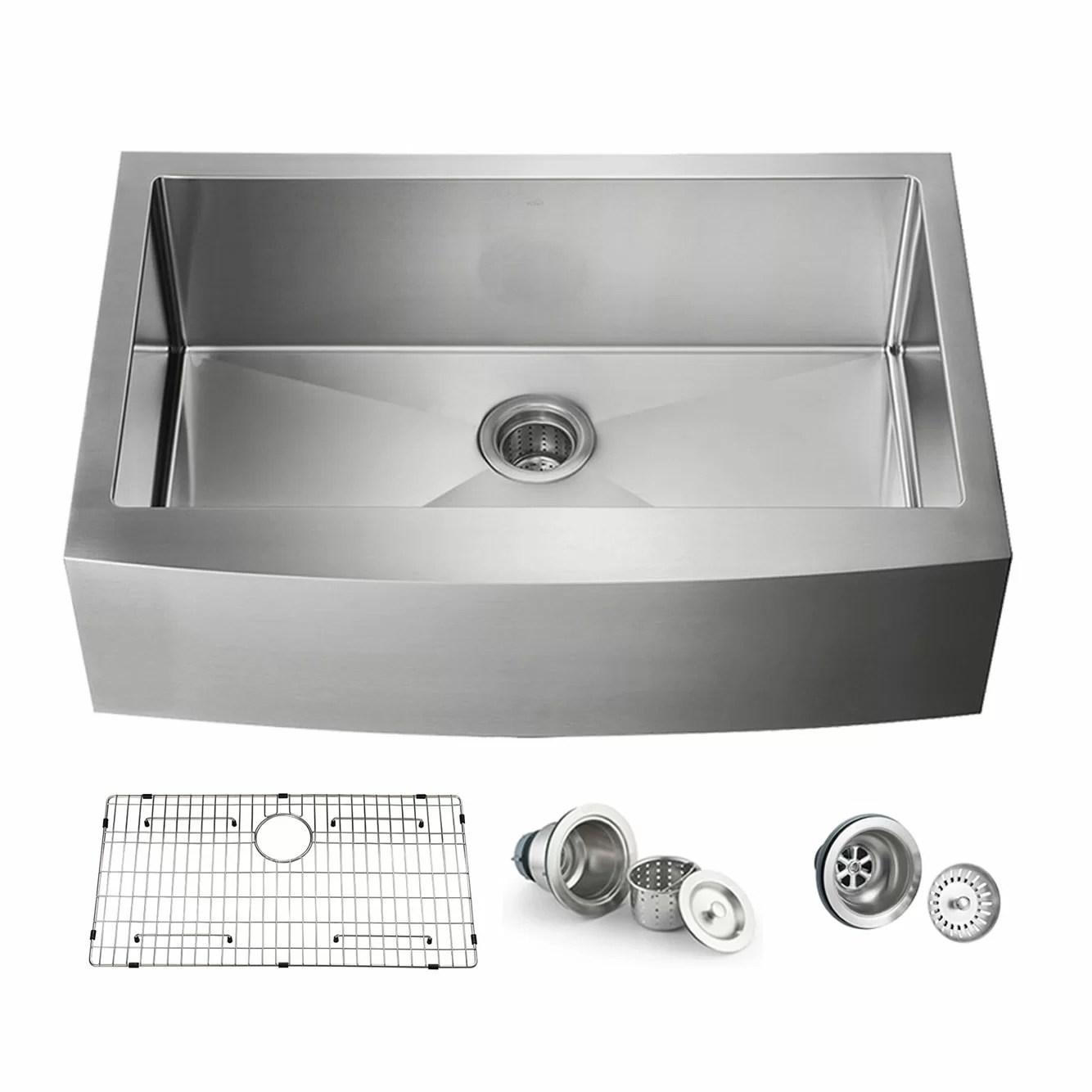 handcrafted stainless steel 36 l x 22 w undermount kitchen sinks