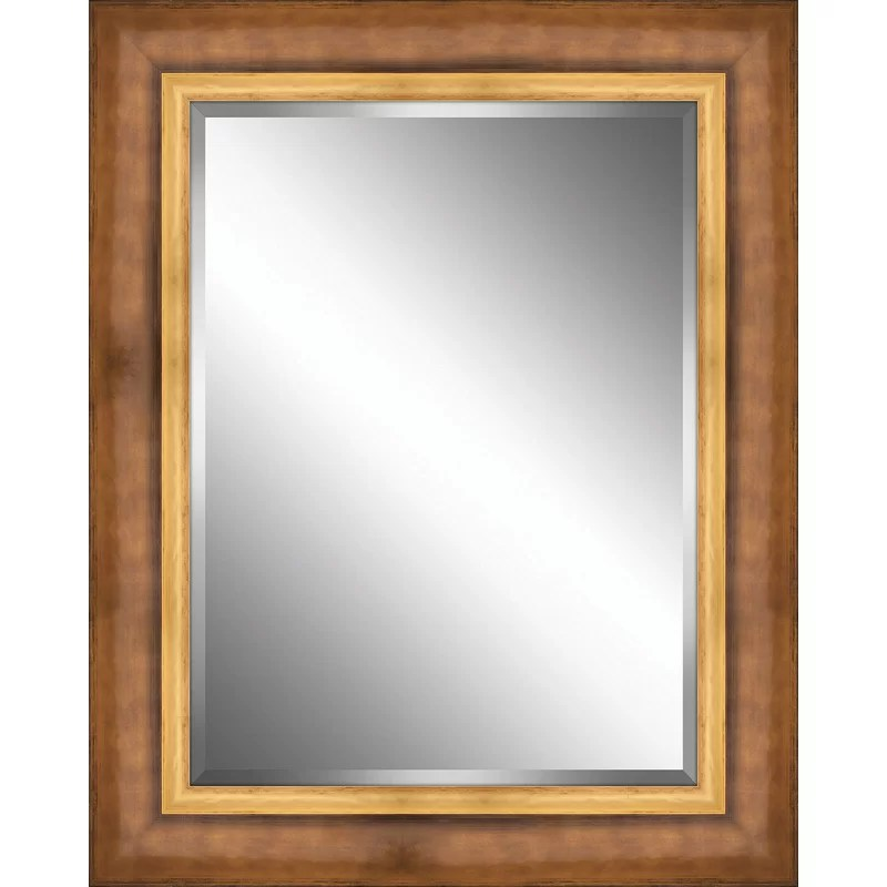 Plate Accent Mirror Size: 24 H x 24 W Color: Bronze/Gold