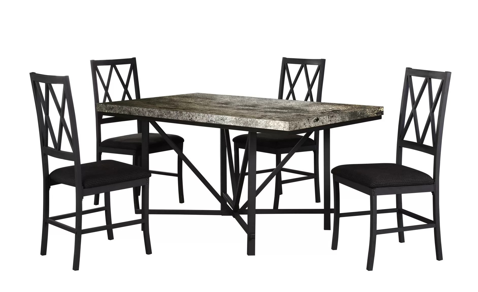 concrete kitchen table ikea solid wood cabinets faux dining wayfair ca iron city