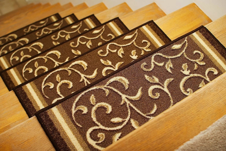 Fleur De Lis Living Weinert Non Slip Carpet Stair Tread Reviews | Stair Tread Carpet Tiles | Treads Lowes | Slip Resistant | Non Slip | Tread Covers | Walmart