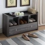 Union Rustic Entry 8 Pair Shoe Storage Bench Reviews Wayfair