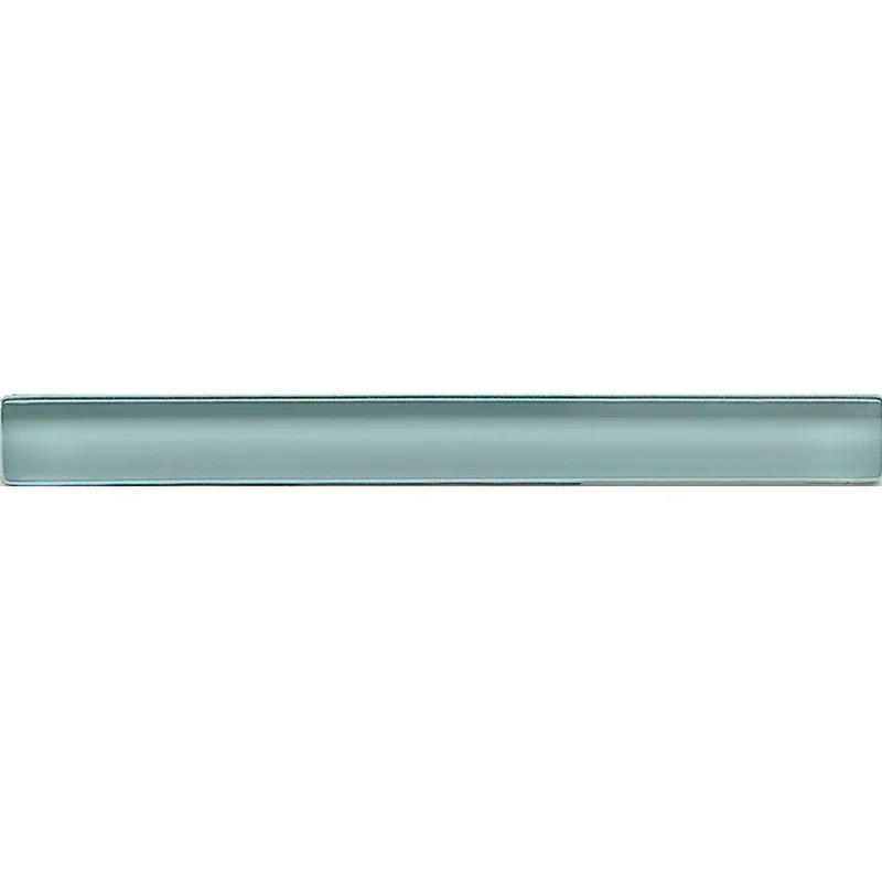 harbor glass 6 x 0 5 polished glass pencil liner tile trim in blue