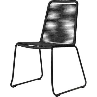 black patio chairs one piece chair cushions modern outdoor dining allmodern quickview