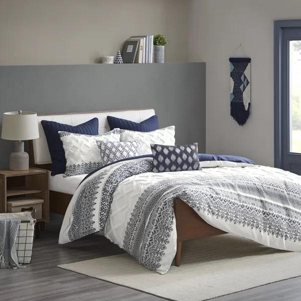 fluffy white comforter