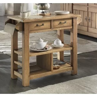kitchen cart table farmhouse faucets assembled carts islands you ll love wayfair karval serving with wood top