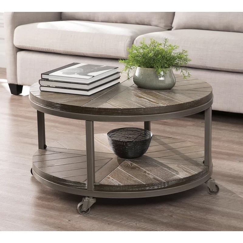 brien wheel coffee table with storage