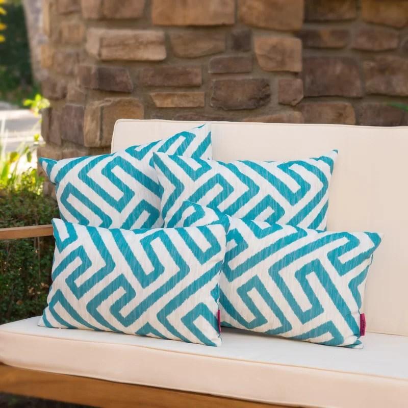 mcintire outdoor 4 piece throw pillow set