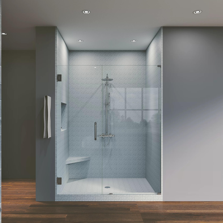 43 5 X 76 Hinged Frameless Shower Door