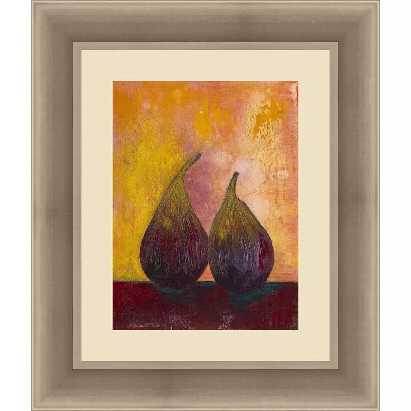 Trends Bold Fruit V Framed Painting Print