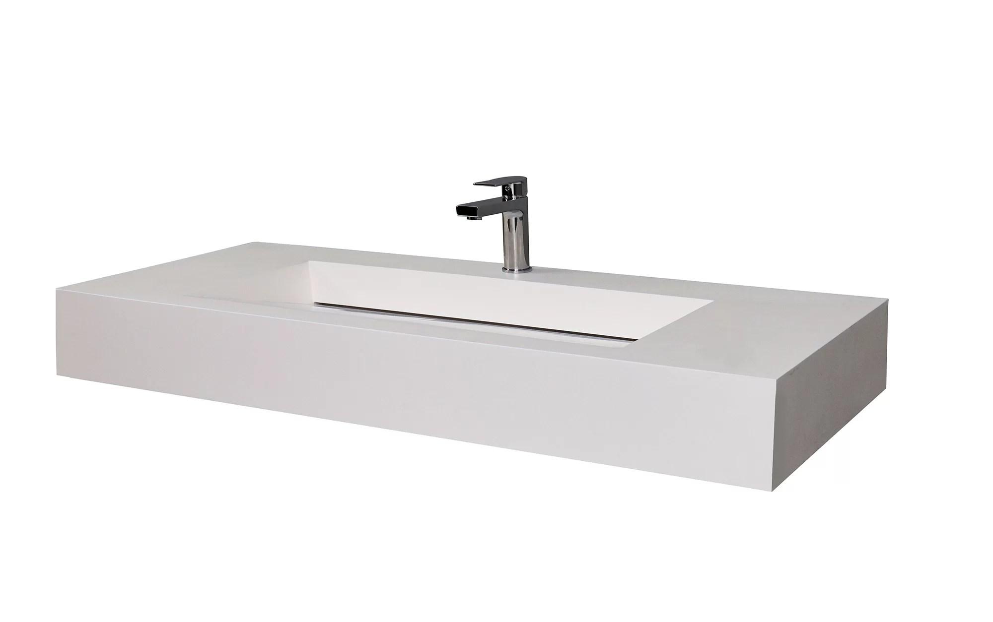 audrey 48 single bathroom vanity top with sink
