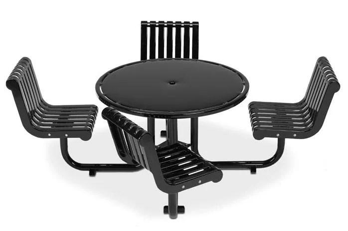 Rendezvous Metal Picnic Table Finish: Black