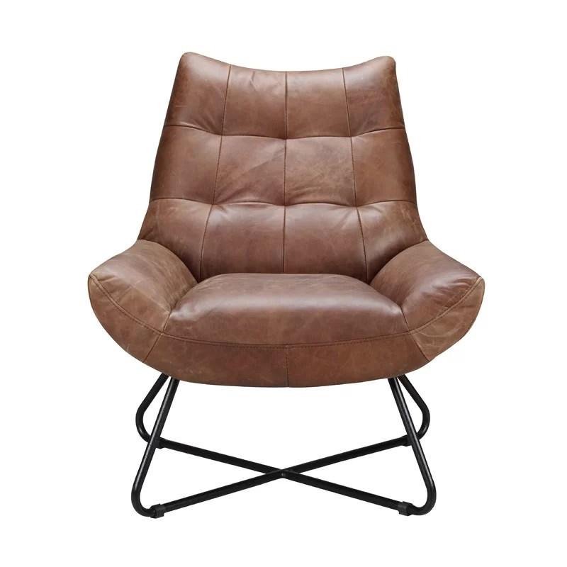 lounge chair leather best home computer brayden studio chaplin reviews wayfair