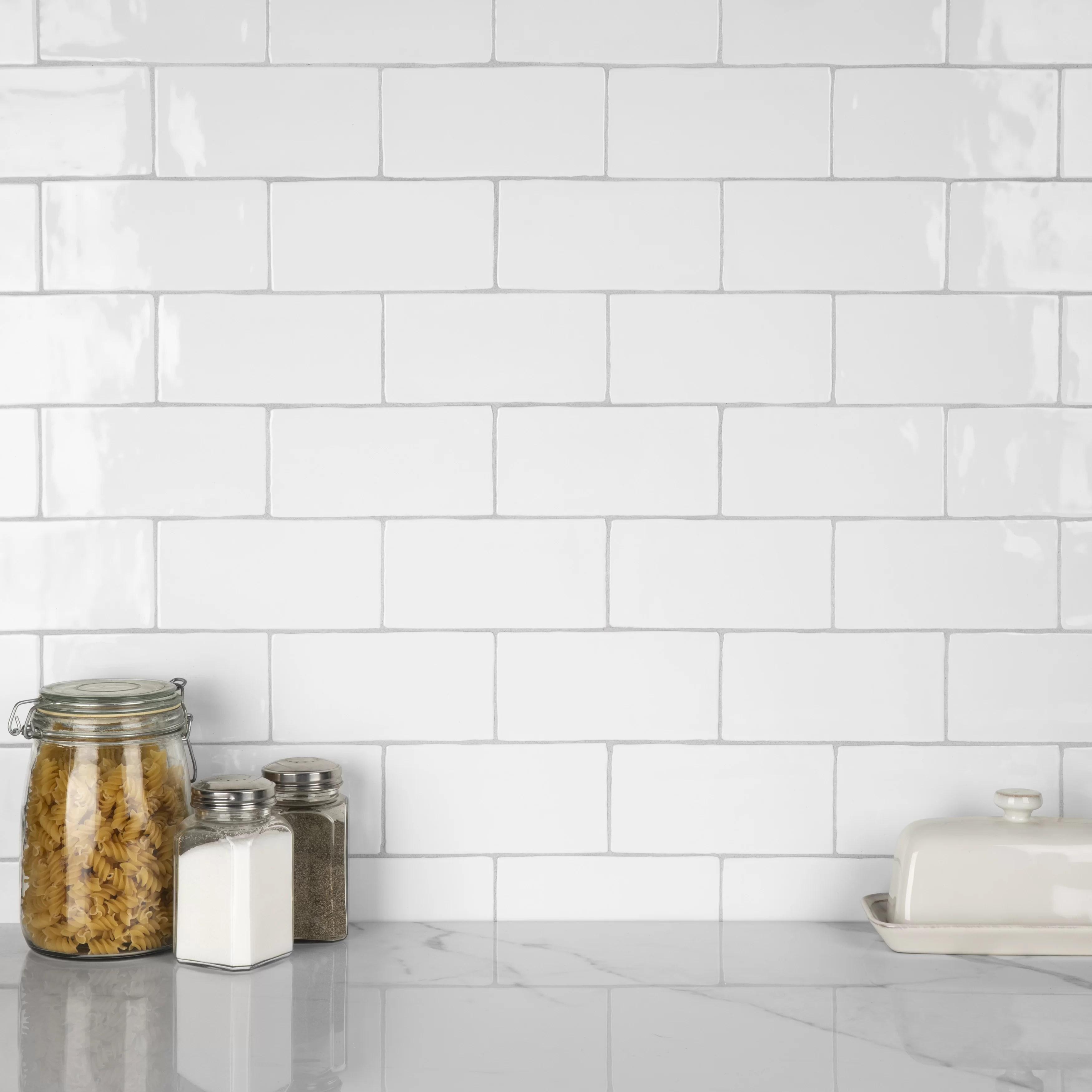 6 ceramic brick look subway tile