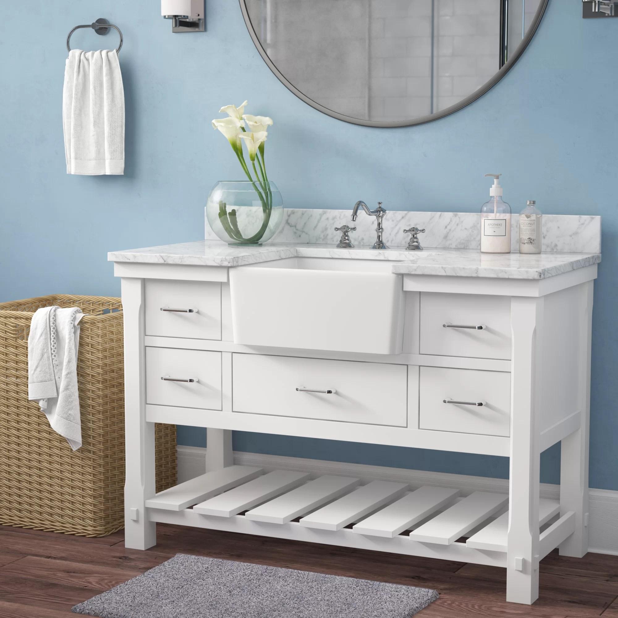 Highland Dunes Skelly 48 Single Bathroom Vanity Set Reviews Wayfair