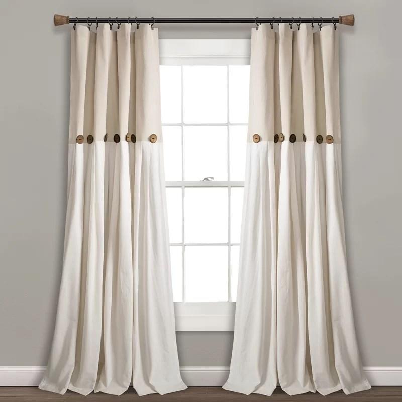 ruya window semi sheer rod pocket single curtain panel