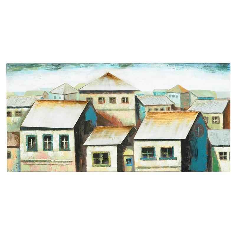 Neighborhood Painting Print on Canvas