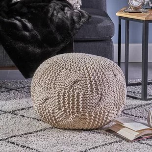 pouf in living room curtains for poufs you ll love wayfair ca save