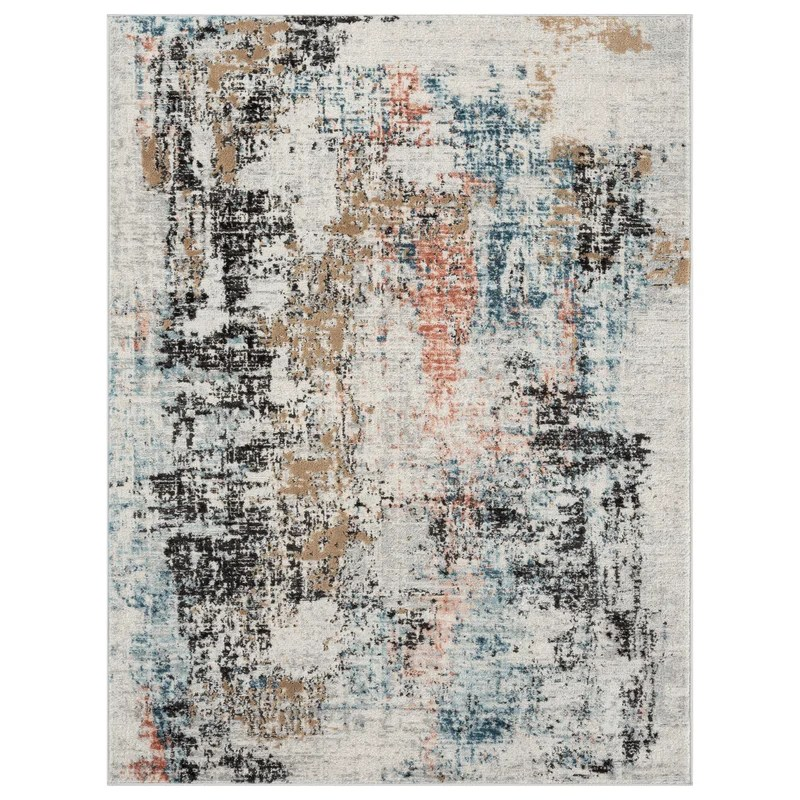 Abstract Blue Area Rug