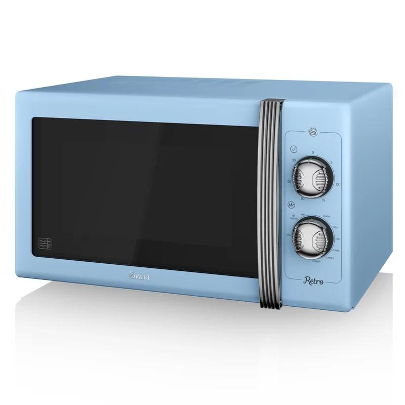 retro 25l 900w countertop microwave