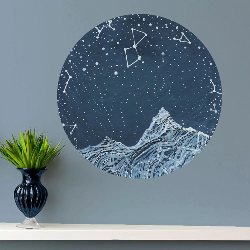 lyra constellation wall decal