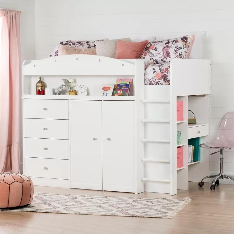 tiara twin low loft bed