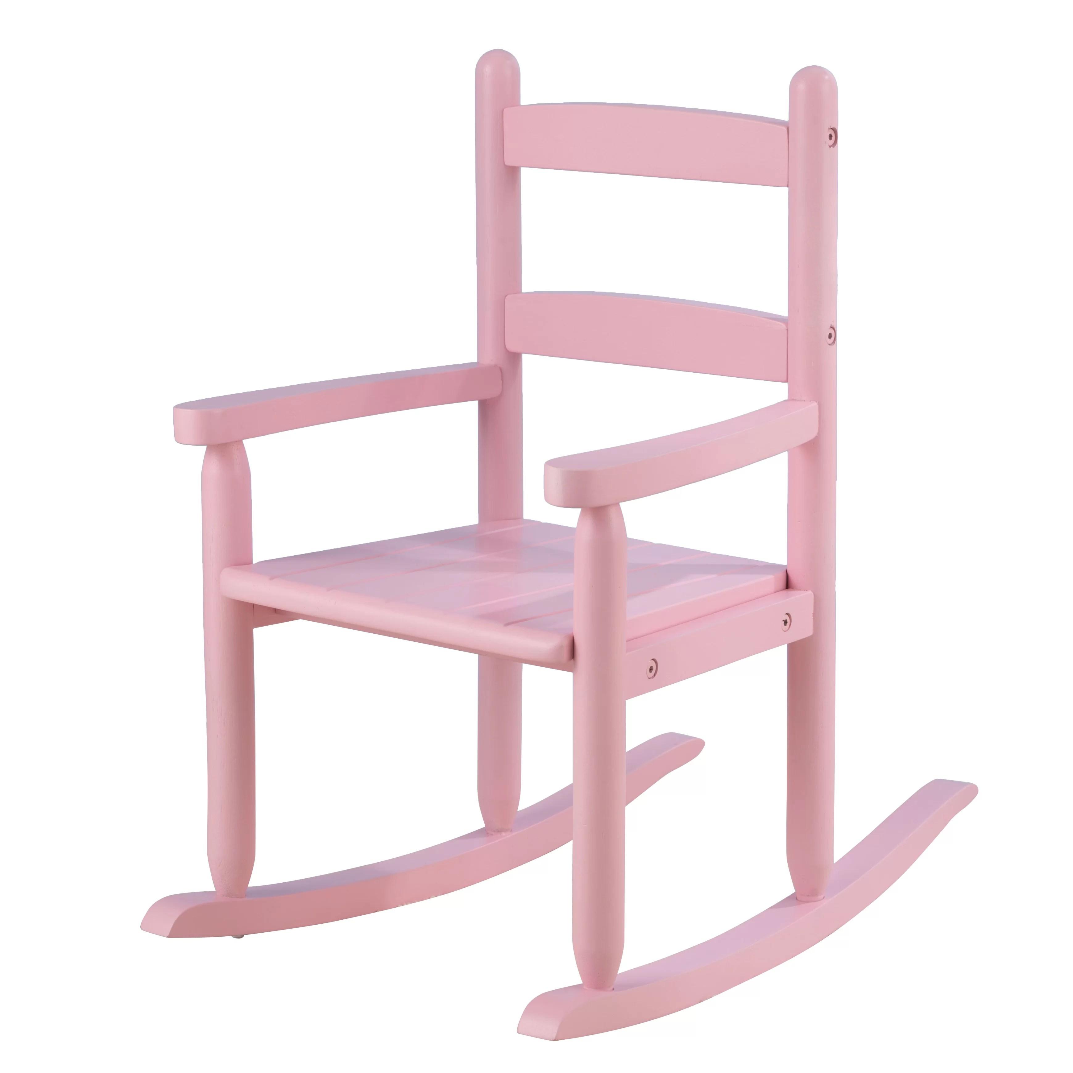 rocking chair kids saddle with back support kidkraft 2 slat reviews wayfair