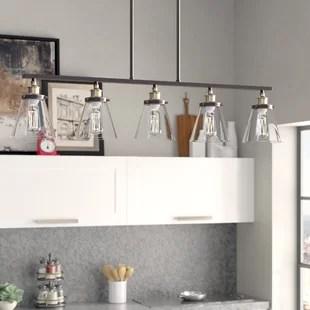 kitchen island light wine racks lighting you ll love wayfair paterson 5 pendant