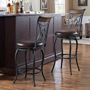 countertop stools kitchen gold sink wayfair ca betz 26 swivel bar stool