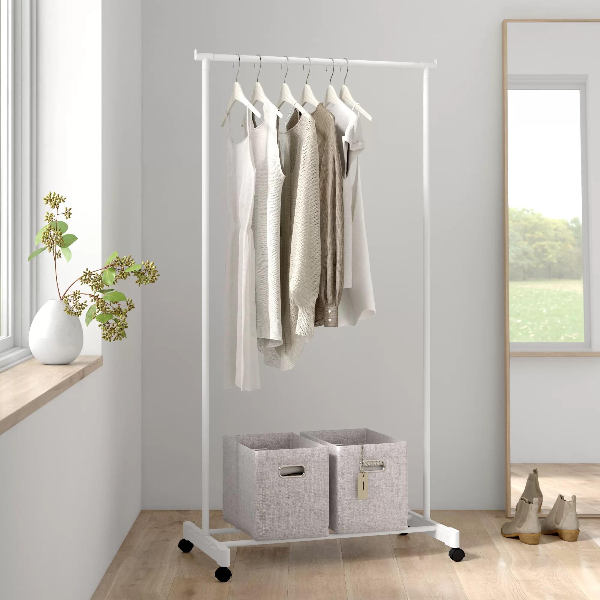 darcy 35 w portable garment rack