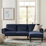 Kelly Clarkson Home Shelton 83 Velvet Reversible Sleeper Sofa Chaise Reviews Wayfair