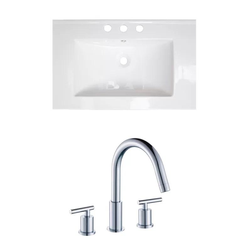 Double Handle 24 Single Bathroom Vanity Top
