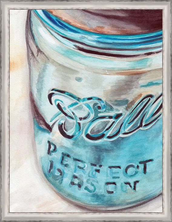 Trends Custom Mason Jar I Framed Painting Print on Canvas