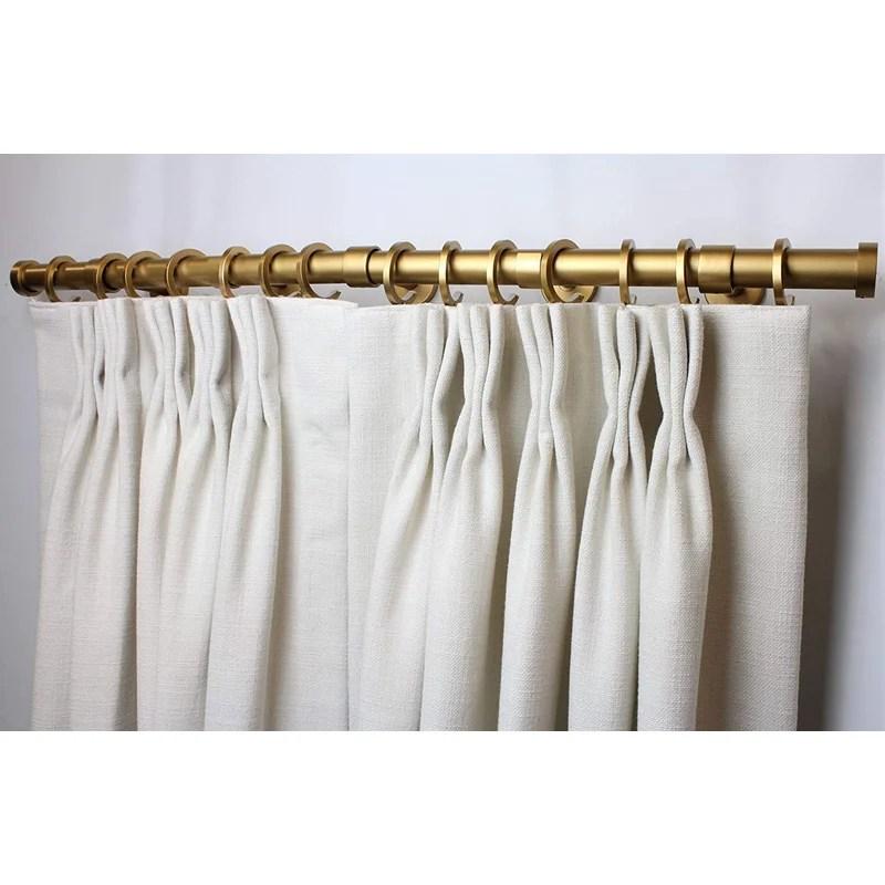 gold 1 13 single curtain rod
