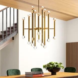 hammons 24 light sputnik modern linear chandelier