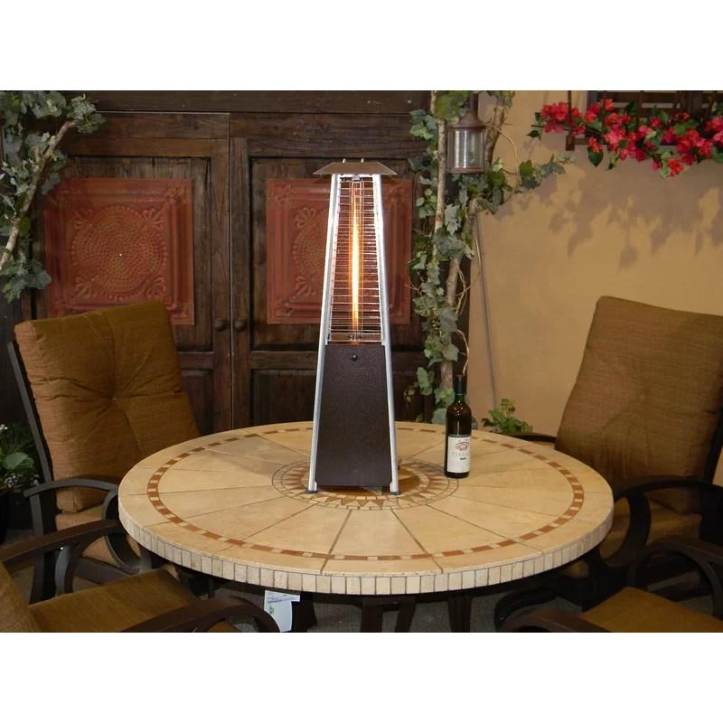 miceli 9 500 btu propane tabletop patio heater