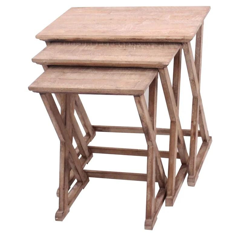 Cheyenne 3 Piece Nesting Table Set