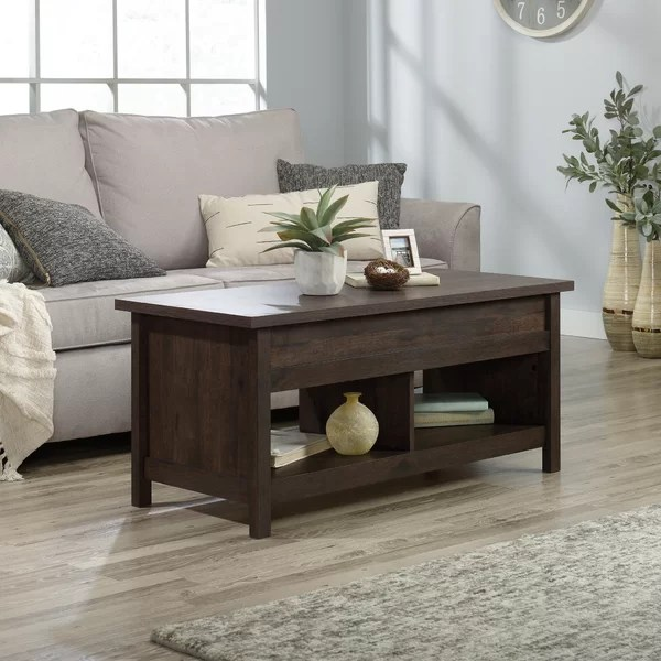 coffee table with slate top