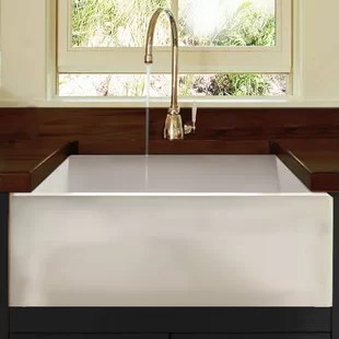 24 inch kitchen sink refacing apron wayfair cape l x 18 w