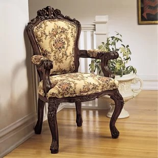 chair design antique floor india looking chairs wayfair armchair by toscano