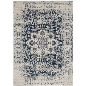 Grieve Cream/Navy Area Rug