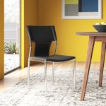 Wilder Genuine Leather Upholstered Dining Chair