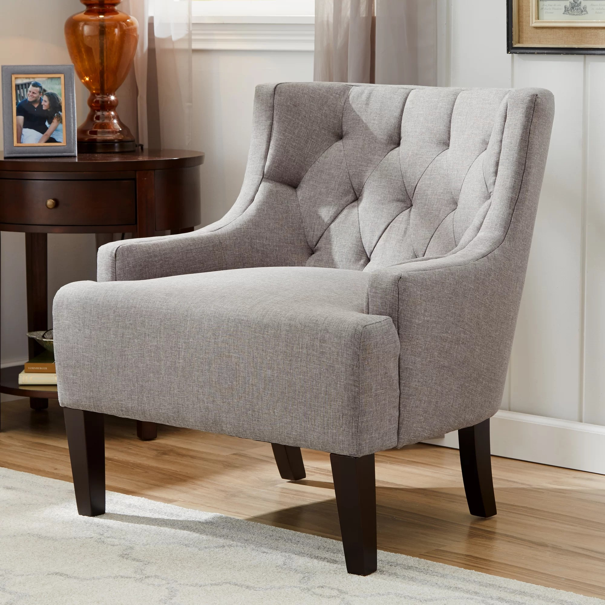 accent wingback chairs serta lift chair warranty three posts barwood tufted and reviews
