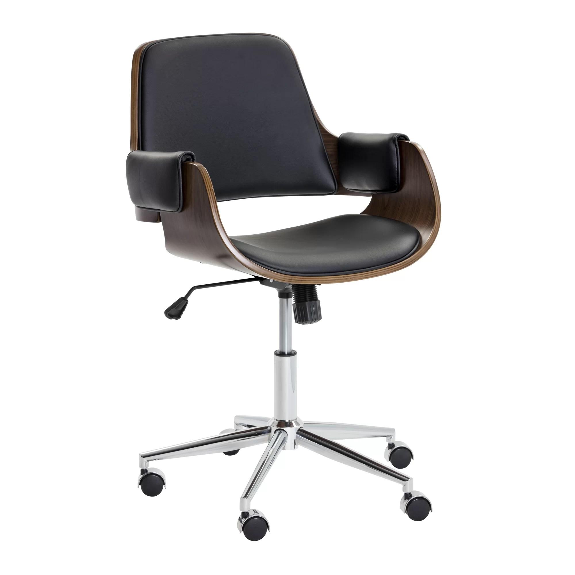 desk chair is too low leg pads home depot sunpan modern kellan back and reviews