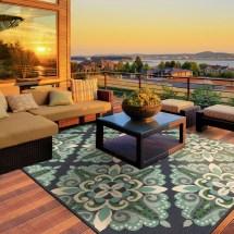 Green Indoor Outdoor Area Rugs
