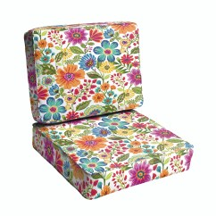 Indoor Outdoor Chair Cushions Covers In Bows Red Barrel Studio Budron Floral Piped